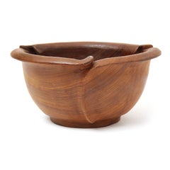Scallop-Edged Walnut Bowl