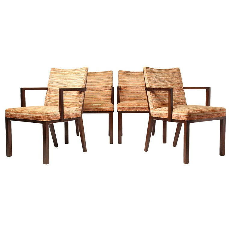 Panel Back Dining Chairs by Edward Wormley
