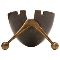 Modernist Bronze Ashtray