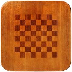 Mahogany and Walnut Gaming Table