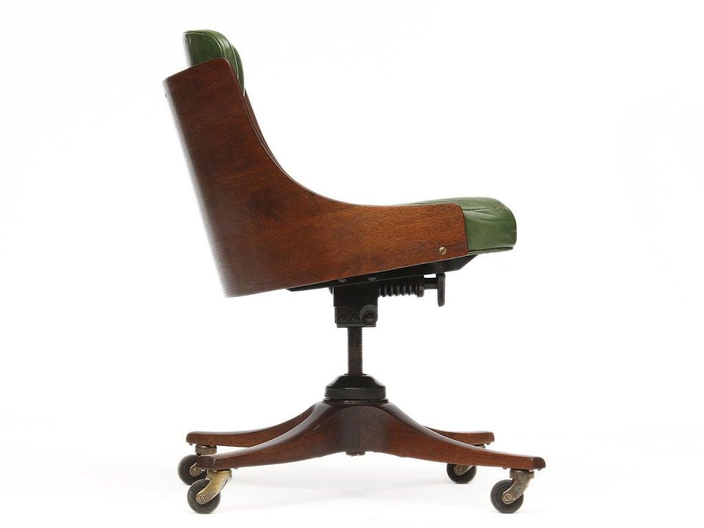 American barrel back desk chair by Edward Wormley for Dunbar