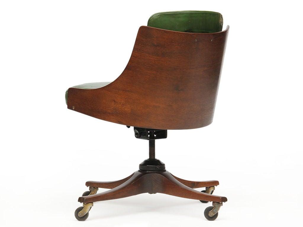 barrel back desk chair by Edward Wormley for Dunbar 1