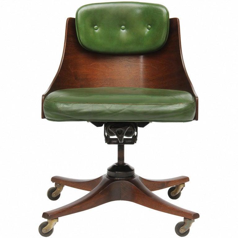 barrel back desk chair by Edward Wormley for Dunbar
