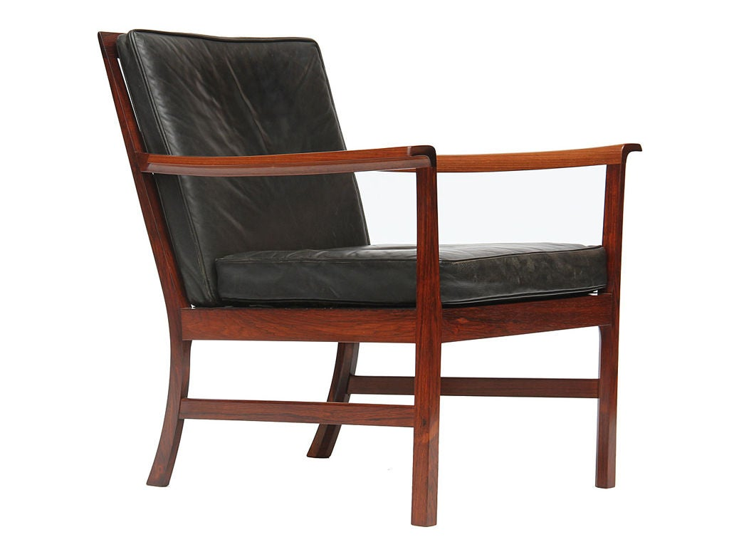 Scandinavian Modern Low Easy Chairs by Ole Wanscher For Sale