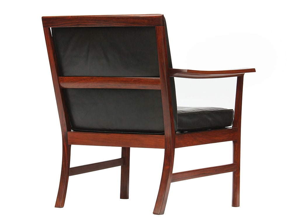 Low Easy Chairs by Ole Wanscher In Good Condition For Sale In New York, NY