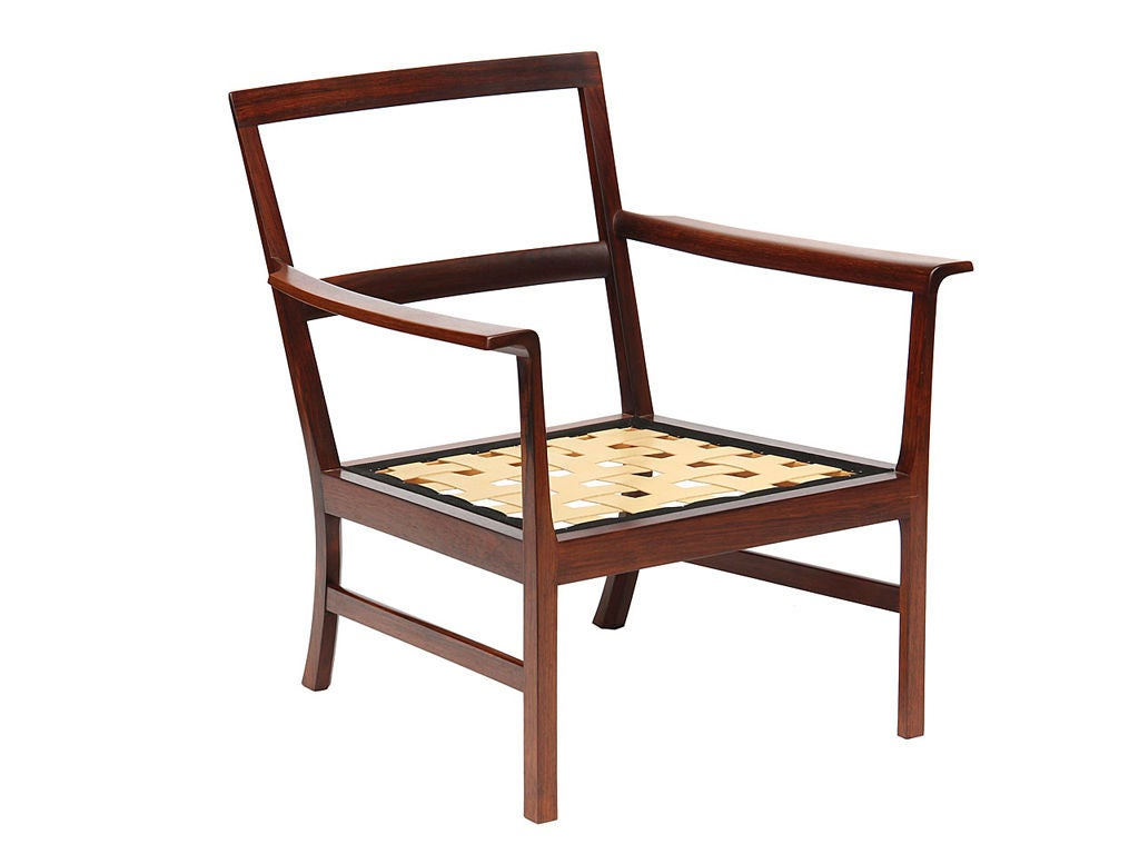Rosewood Low Easy Chairs by Ole Wanscher For Sale