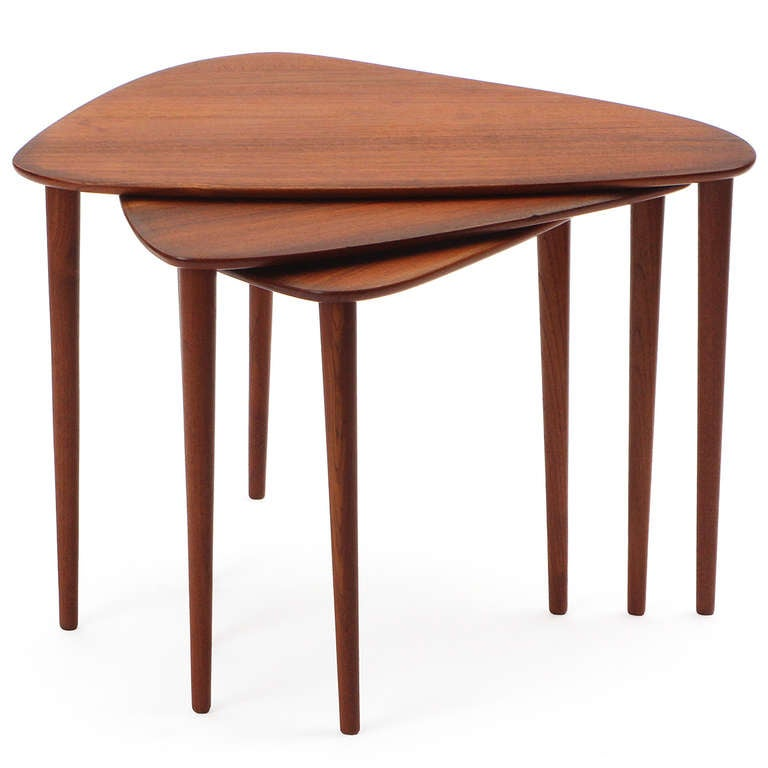 Scandinavian Modern Nesting Tables By Johannes Aasbjerg For Sale