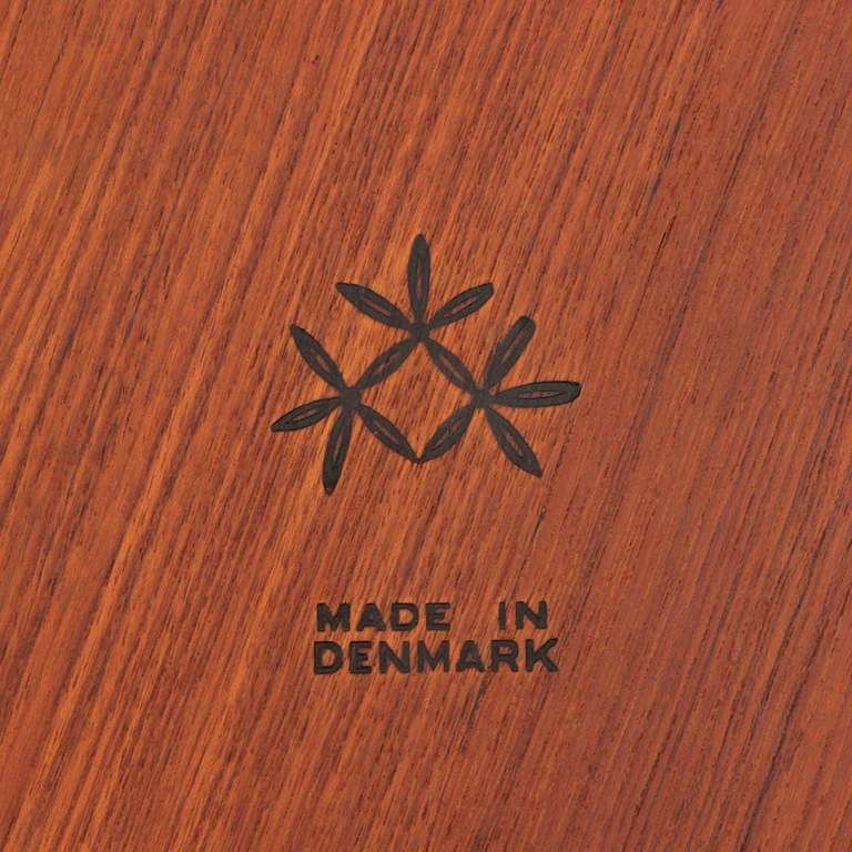 Teak Nesting Tables By Johannes Aasbjerg For Sale
