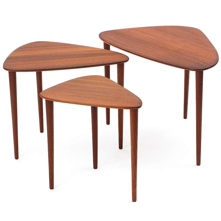 Nesting Tables By Johannes Aasbjerg In Excellent Condition For Sale In New York, NY