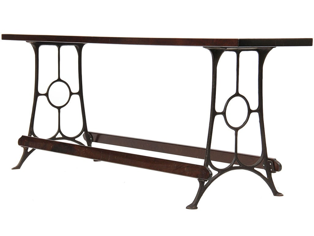 Industrial Cast Iron Freestanding Counter For Sale