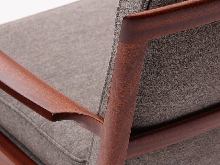 Cuban Mahogany Lounge Chair by Ole Wanscher For Sale 1
