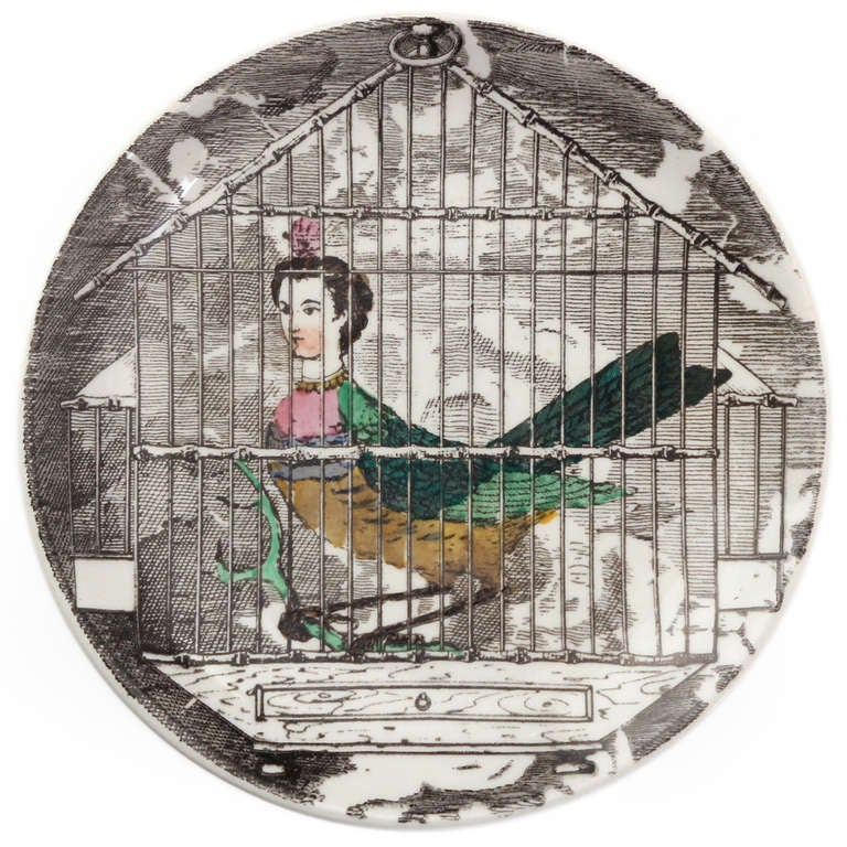 Surrealist Plates by Piero Fornasetti For Sale 1