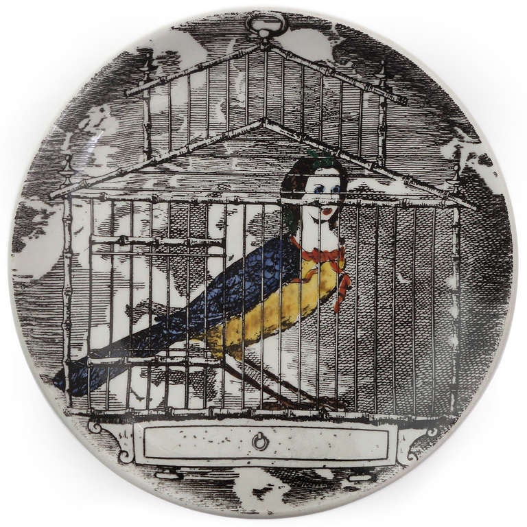 Surrealist Plates by Piero Fornasetti In Good Condition For Sale In New York, NY