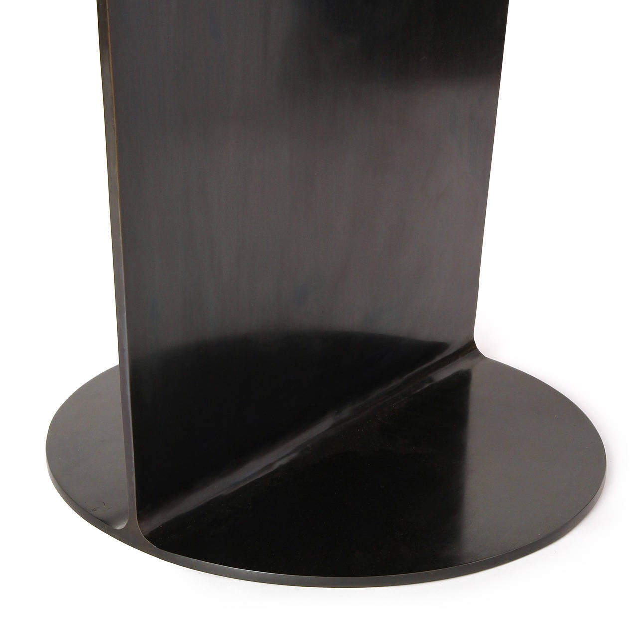 WYETH Original I Beam Gong Table in Blackened Steel For Sale 2
