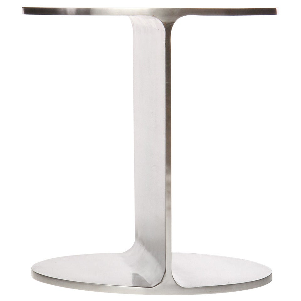 Thin i beam table by wyeth at 1stdibs for Thin side table