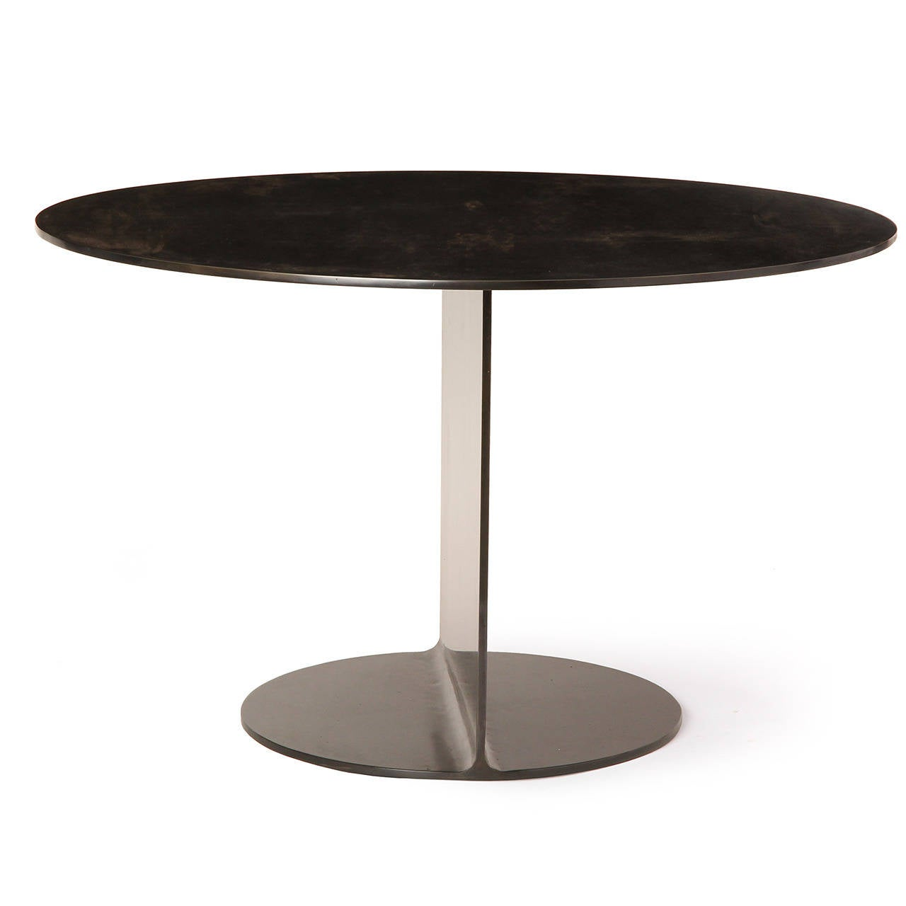 WYETH Original I Beam Gong Table in Blackened Steel For Sale 3