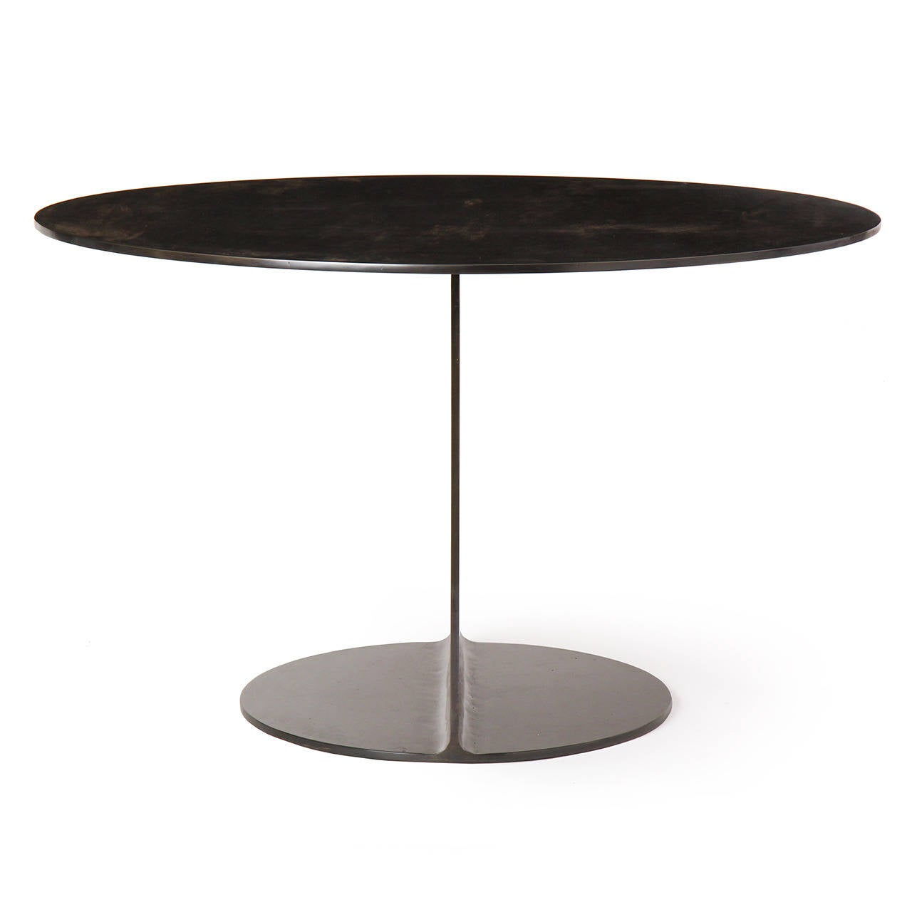 Industrial WYETH Original I Beam Gong Table in Blackened Steel For Sale