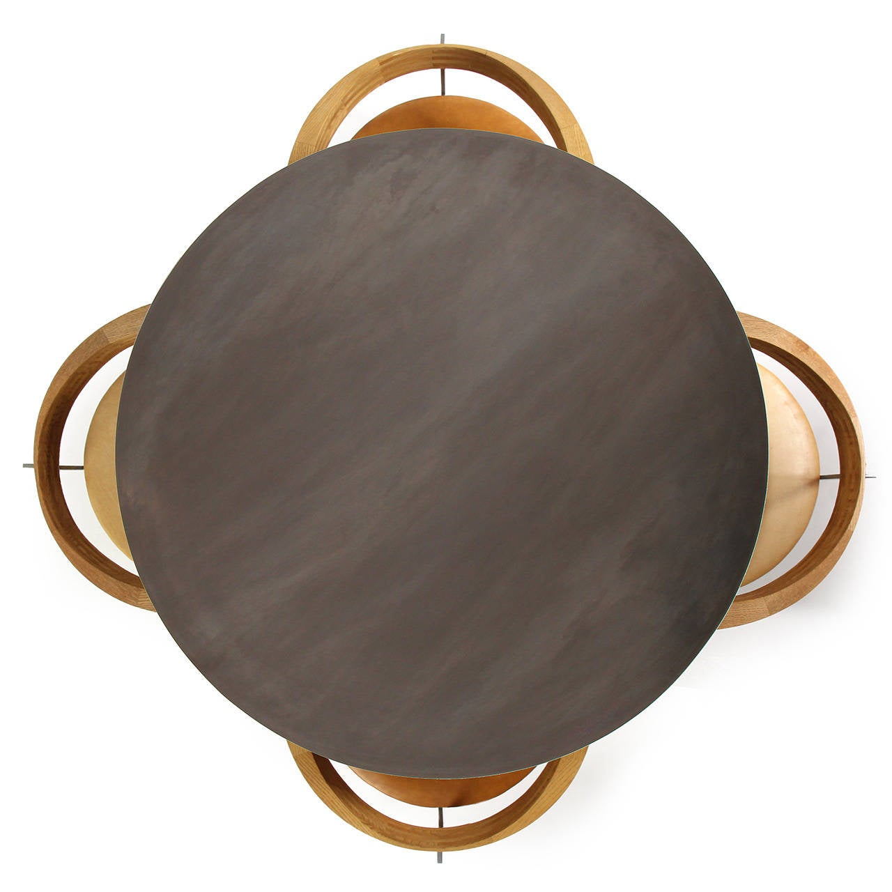 WYETH Original I Beam Gong Table in Blackened Steel For Sale 4