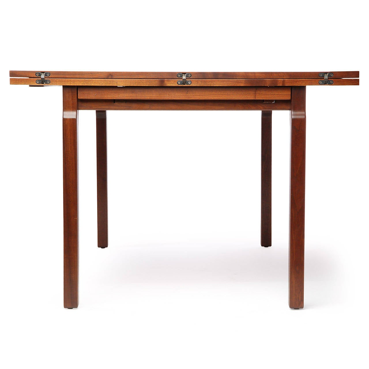 expanding dining table by edward wormley for sale at 1stdibs. Black Bedroom Furniture Sets. Home Design Ideas