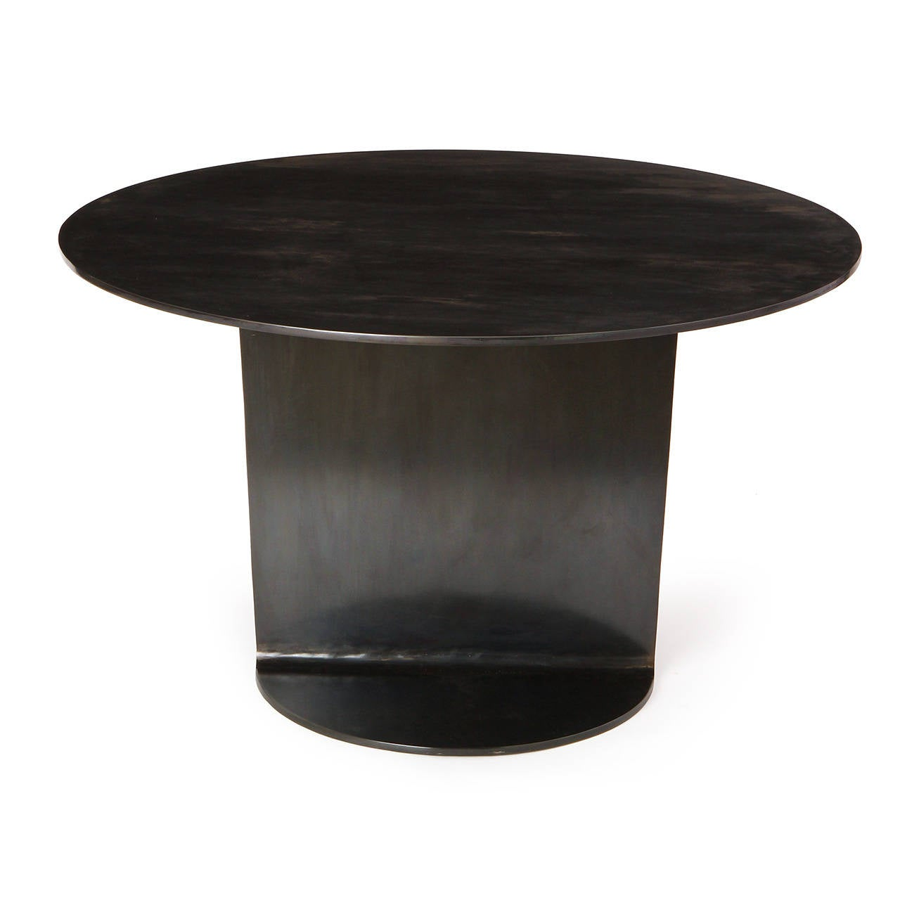 20th Century WYETH Original I Beam Gong Table in Blackened Steel For Sale