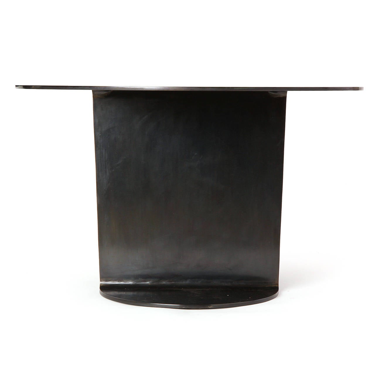 WYETH Original I Beam Gong Table in Blackened Steel For Sale 1