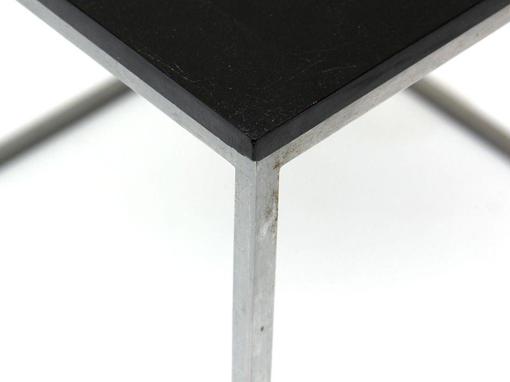 Mid-Century Modern 1950s Danish PK-71 Nesting Tables by Poul Kjaerholm for Fritz Hansen in Black For Sale