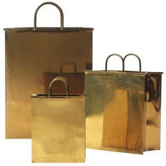 Italian Brass Shopping Bags