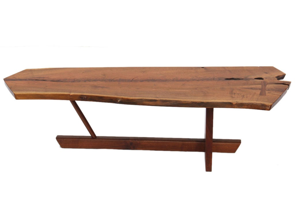 walnut low table by george nakashima at 1stdibs