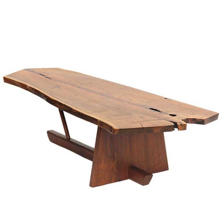 Walnut low table by george nakashima at 1stdibs for Low coffee table wood