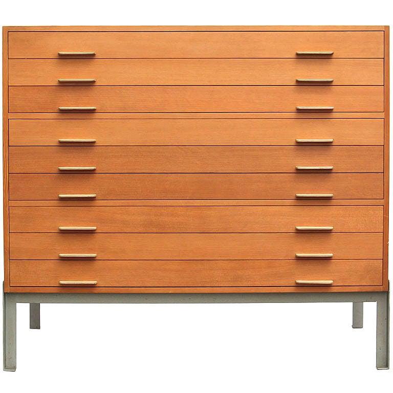 Martha Stewart Living Craft Furniture Professors Flat File by Poul Kjaerholm at 1stdibs