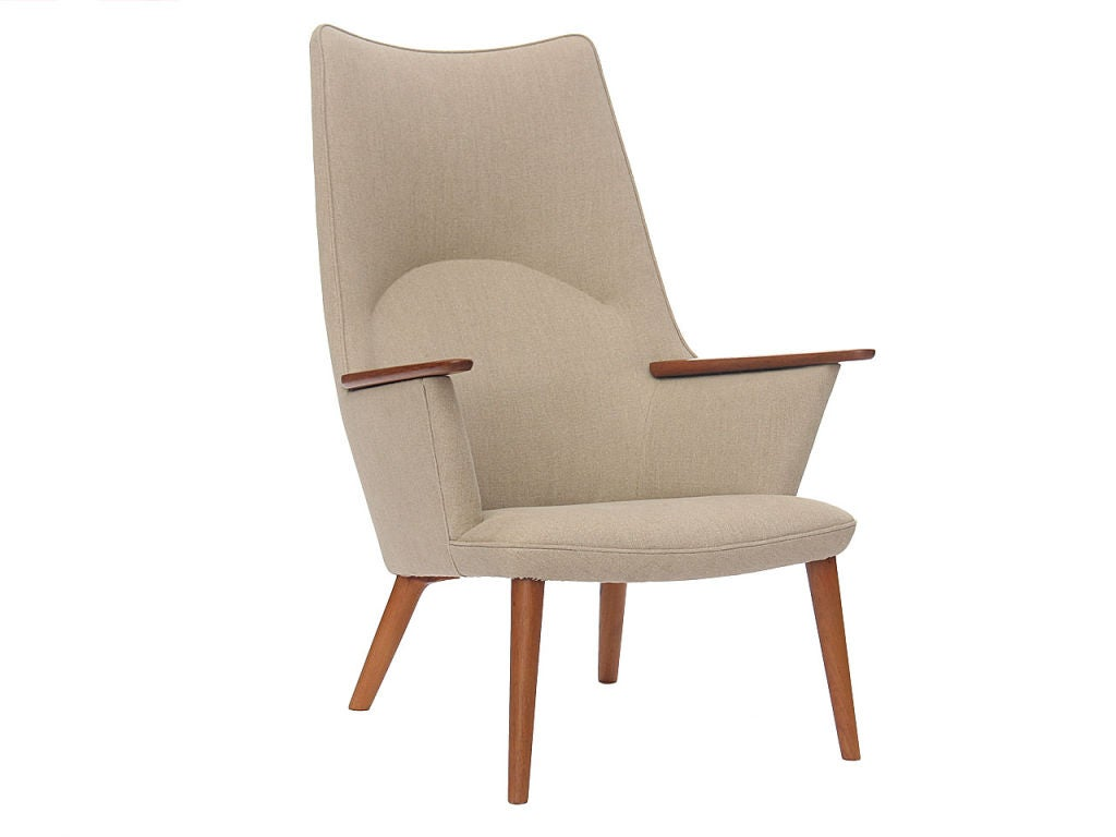 High Back Lounge Chair By Hans Wegner At 1stdibs