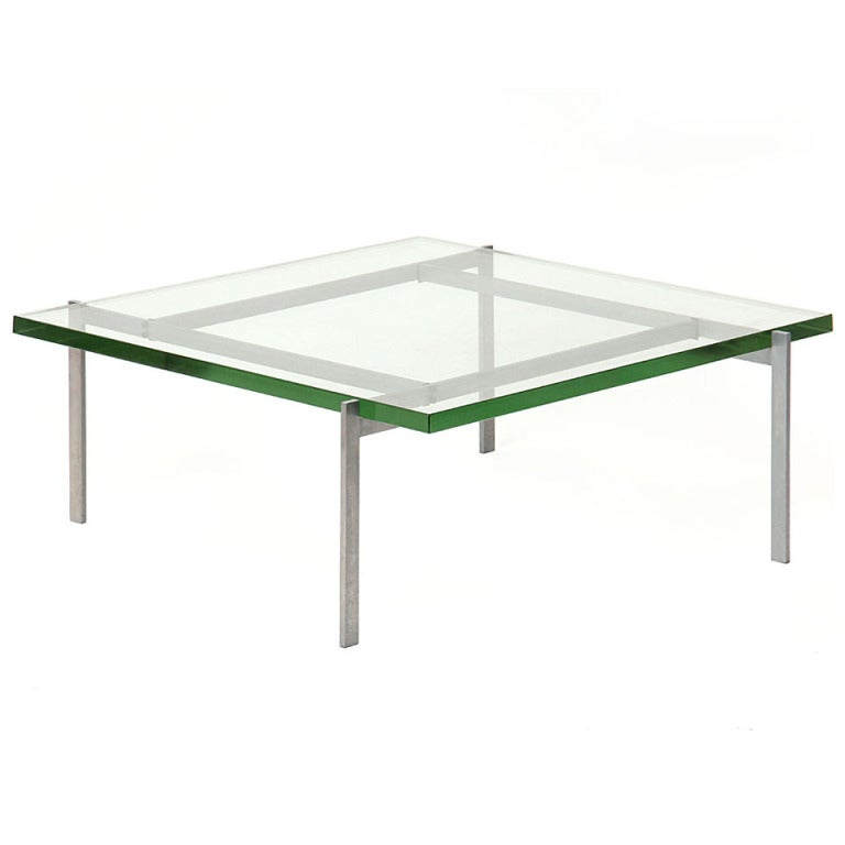 A PK-61 Low Table by Poul Kjaerholm For Sale