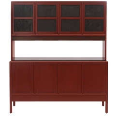 Cinnabar Lacquered Cabinet by Edward Wormley for Dunbar