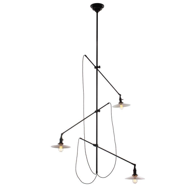 Articulated Industrial Light Fixture by O.C. White