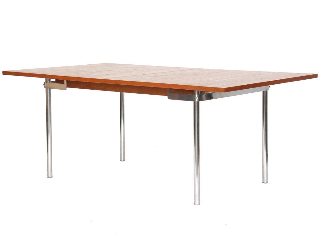 Danish Teak Extension Dining Table by Hans Wegner For Sale
