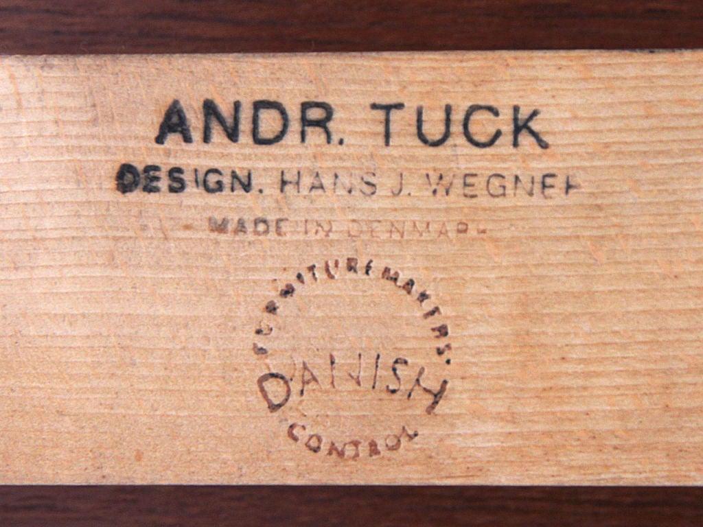 Steel Teak Extension Dining Table by Hans Wegner For Sale