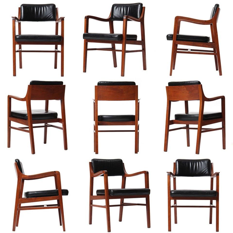 Walnut Dining Chair by Edward Wormley for Dunbar