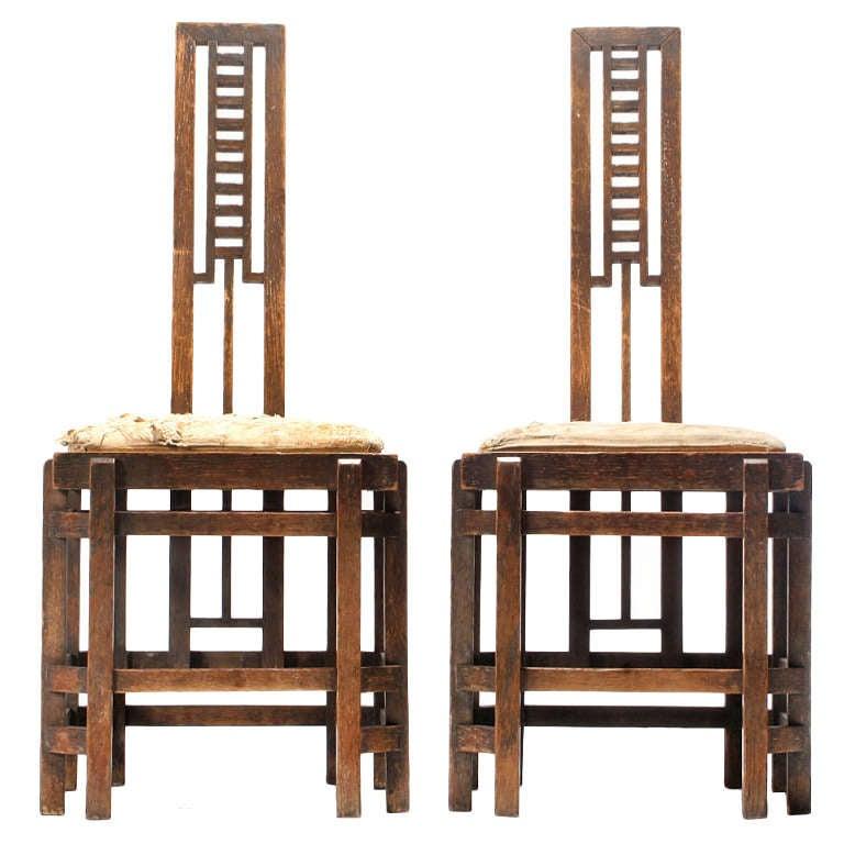 Modernist Ladder Back Chairs
