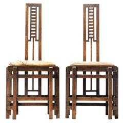 Modernist Ladder Back Chairs