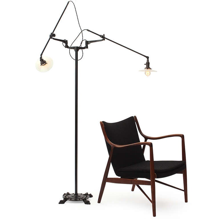 rare industrial floor lamp by oc white 3