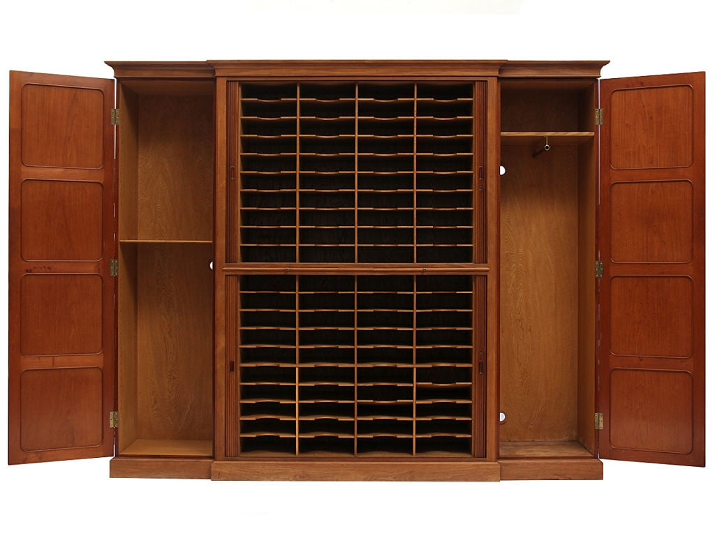 Tambour Door Cabinet By Rudolf Rasmussen At 1stdibs