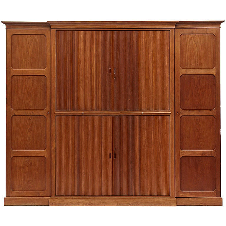 Tambour Door Cabinet by Rudolf Rasmussen For Sale at 1stdibs