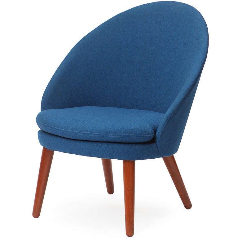 Danish Round Back Lounge Chair at 1stdibs