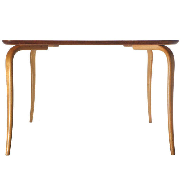 Teak Top Annika Table by Bruno Mathsson