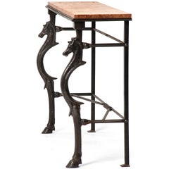 Figural Cast Iron Console Table