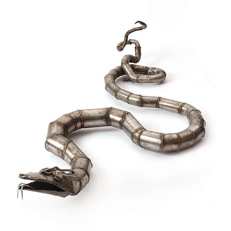 Steel Snake sculpture 2