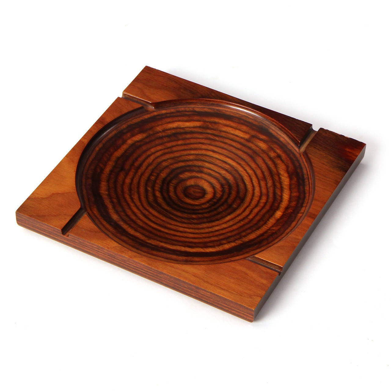 American Modernist Ashtray by Shur Wood For Sale
