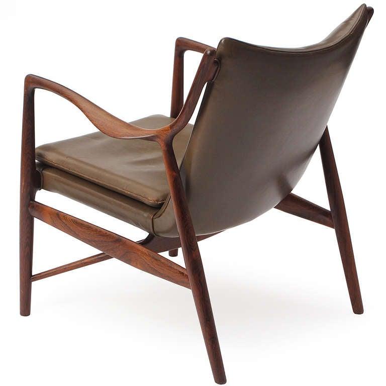 Rio Rosewood 45 Chair By Finn Juhl Niels Vodder For Sale