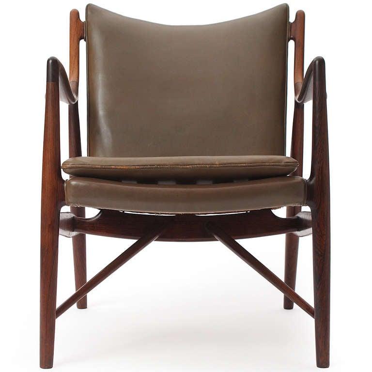 Rio Rosewood 45 Chair By Finn Juhl Niels Vodder At 1stdibs