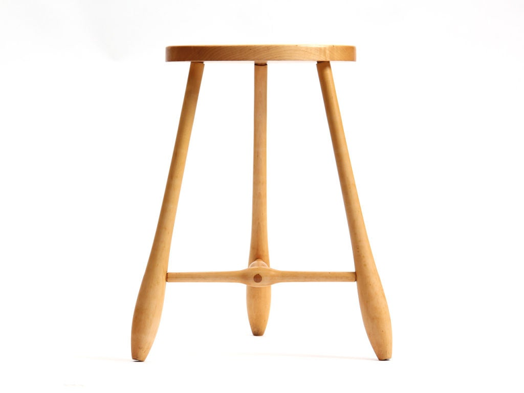 Egg Shaped Table three-leg egg shaped stool for sale at 1stdibs